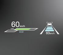 Hệ thống hiển thị thông tin trên kính lái (HUD) cho phép bạn nắm rõ các thông số về tốc độ, tin báo... giúp người dùng hoàn toàn yên tâm vào việc điều khiển xe.